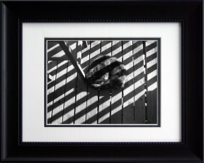 Stripes on Stripe, framed rectangular.