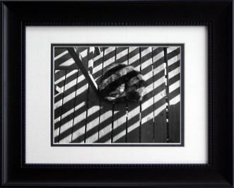 Stripes on Stripe, framed rectangular.