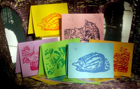 """Tabbies note cards, """"Summery""""."""