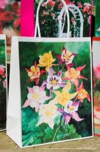 My Mother's Columbines Gift Bag, white
