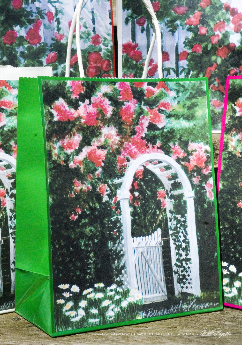 The Garden Gate Gift Bag, Green