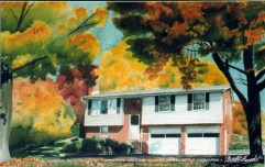 Cully House, watercolor, 10 x 12, 1994.
