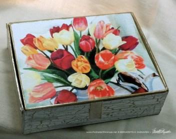 Tea for Tulips Keepsake, design.