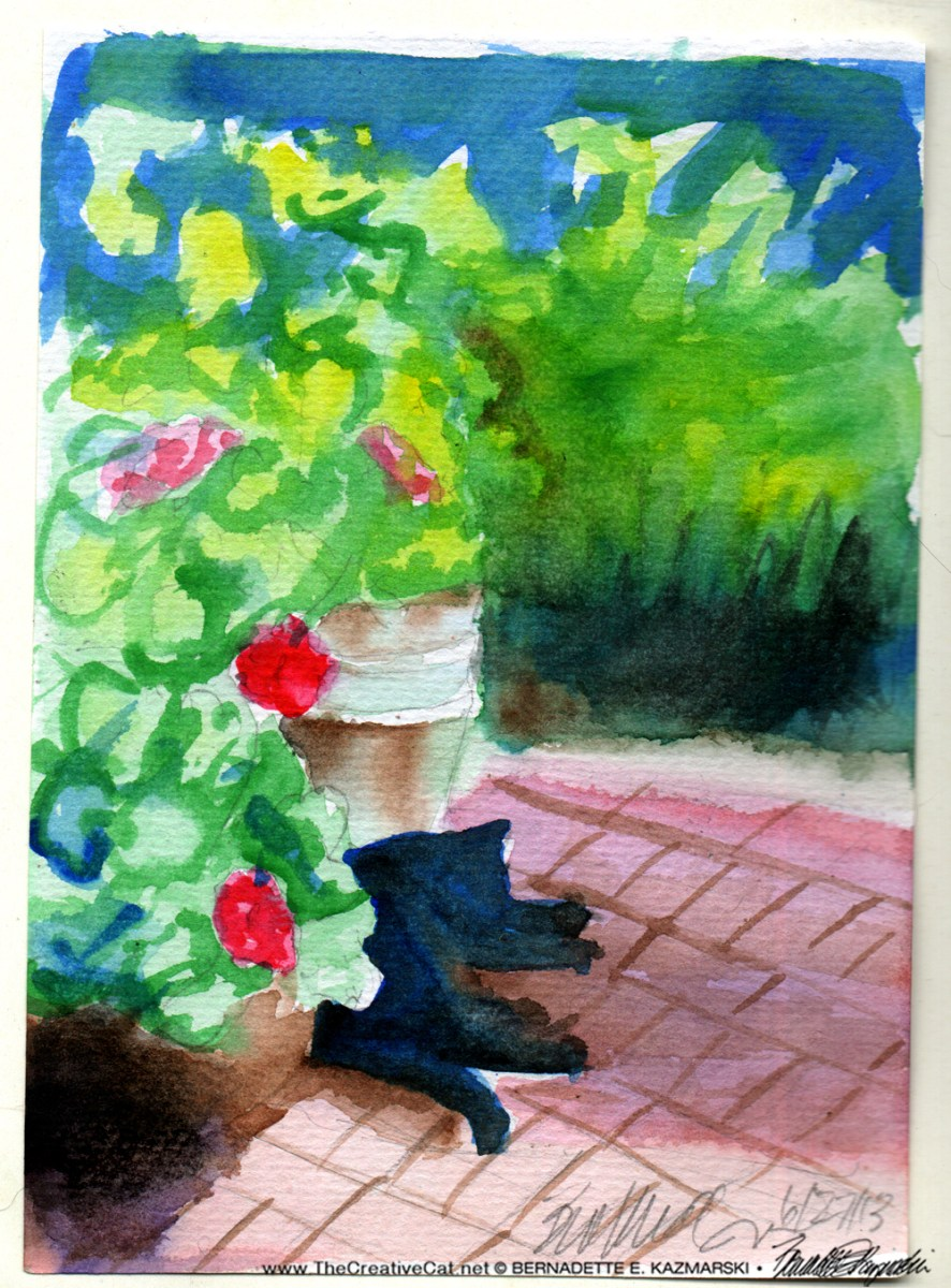 Garden Sketch With Mimi, When We Celebrated a Change in Status