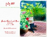 July Feline Desktop Calendar Wallpaper