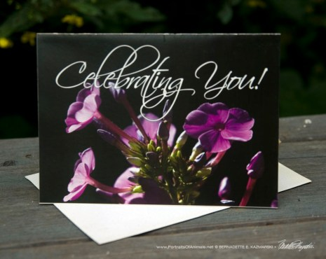 Celebrating You, Inspired by Flowers Greeting Cards