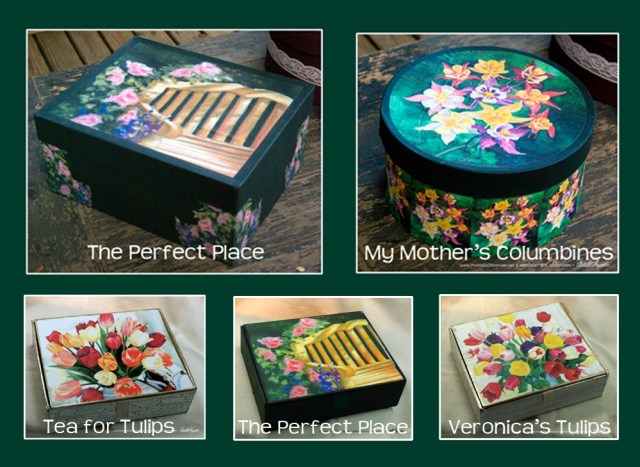 Flowery Keepsake Boxes
