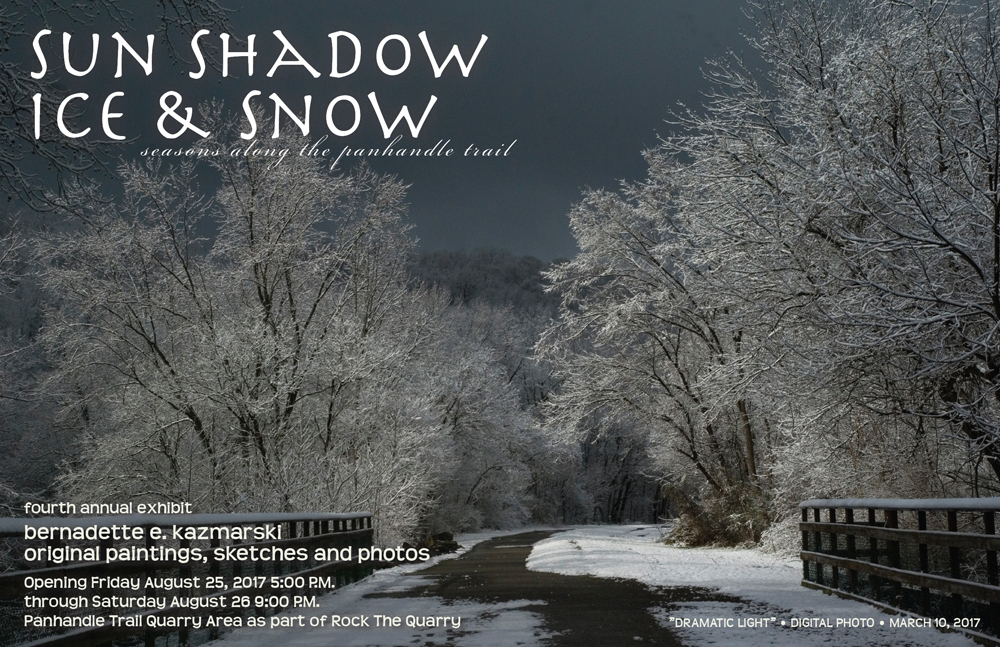 2017: Sun Shadow Ice & Snow, Seasons on the Panhandle Trail August 25-26