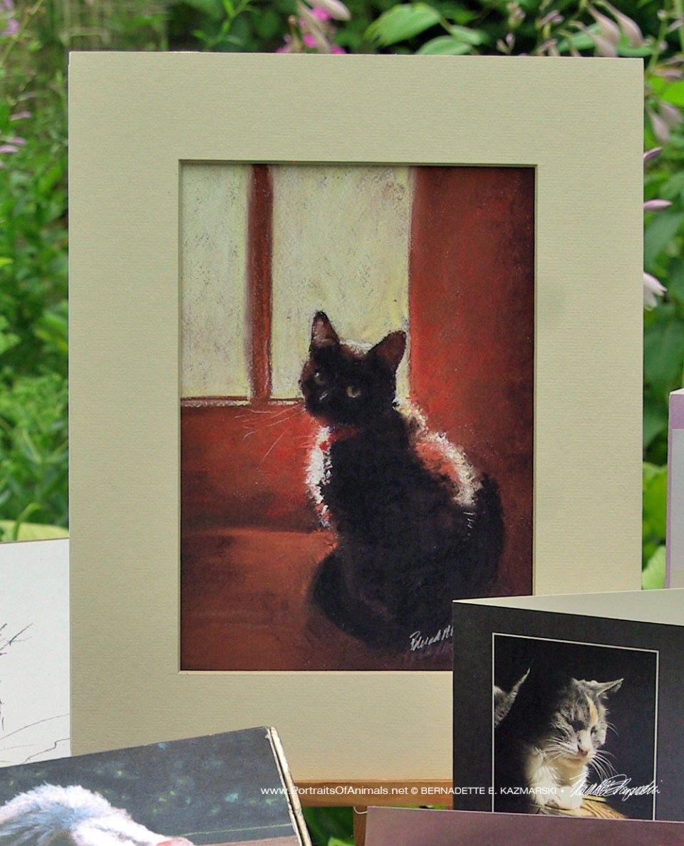 """Matted print of """"We're Going Outside, Right?"""""""