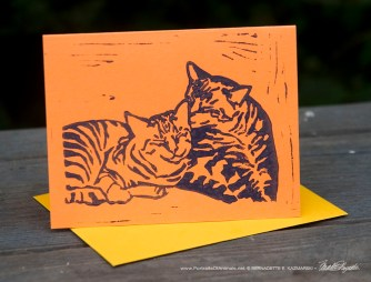 """Tabbies note cards, """"Brights"""", Let Me Clean You Up."""