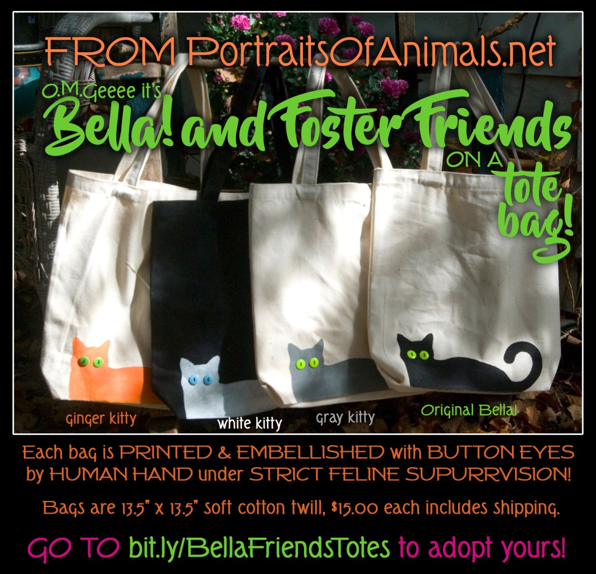 Bella! and Her Foster Friends Tote Bags