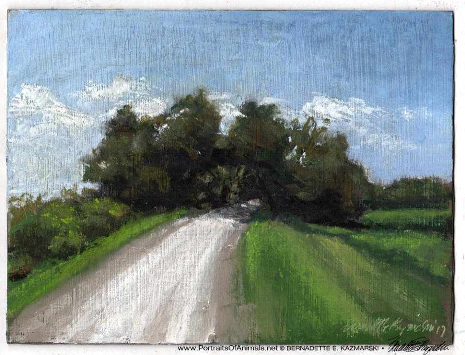 Marsh Road, pastel on self-prepared board, 9 x 12 © Bernadette E. Kazmarski