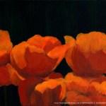Poppies, acrylic, 8 x 11 © Bernadette E. Kazmarski