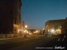 Spring Dusk on Main Street