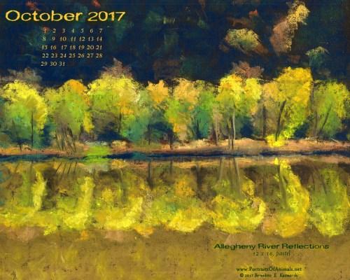 Desktop calendar, 1280 x 1024 for square and laptop monitors.