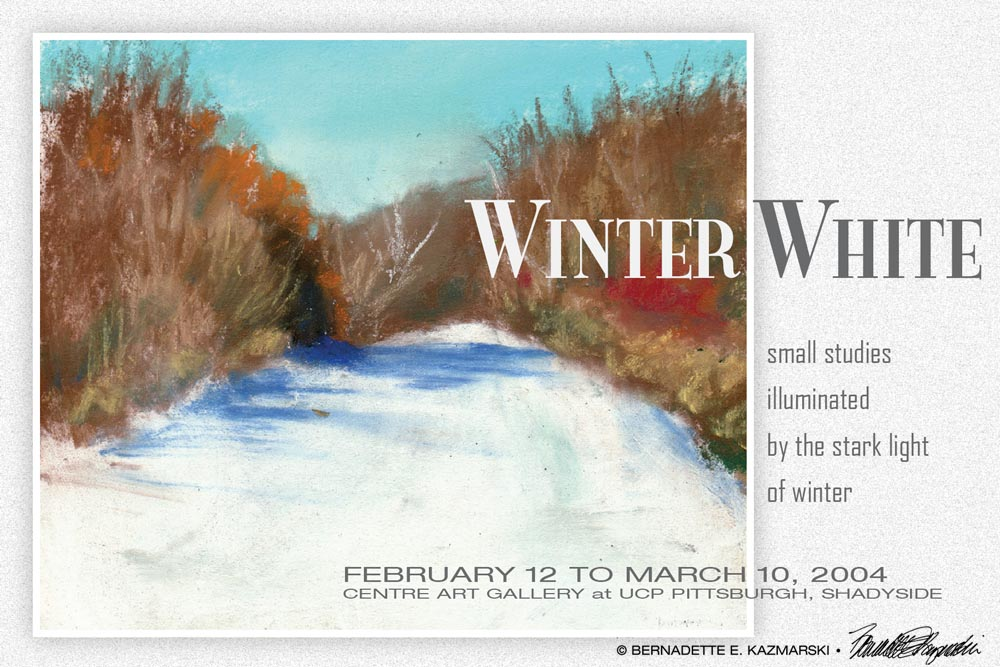 Featured Gallery: Winter White, My 2004 Solo Exhibit