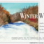 """Winter White"" post card."