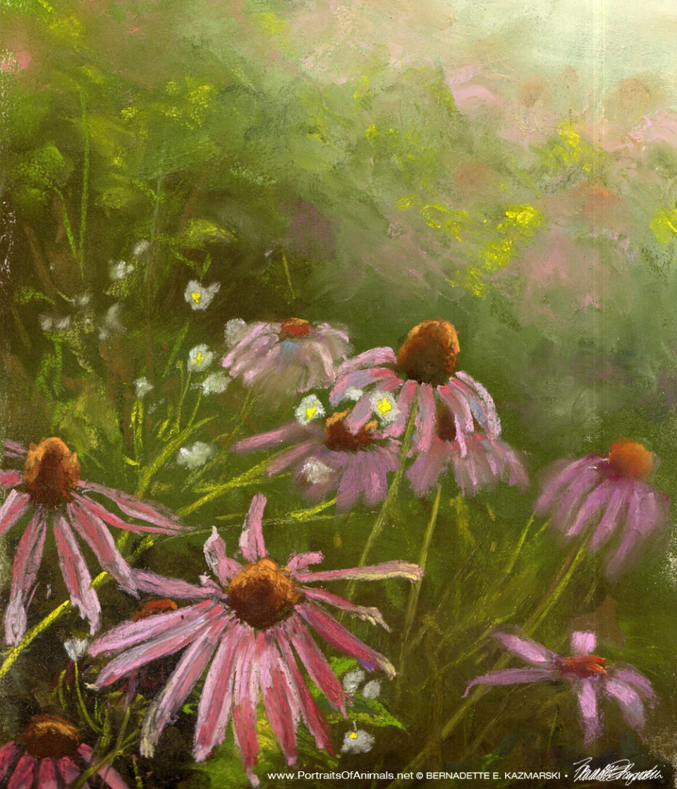 Evening Wildflowers, pastel (crop 2), 10 x 13 © Bernadette E. Kazmarski