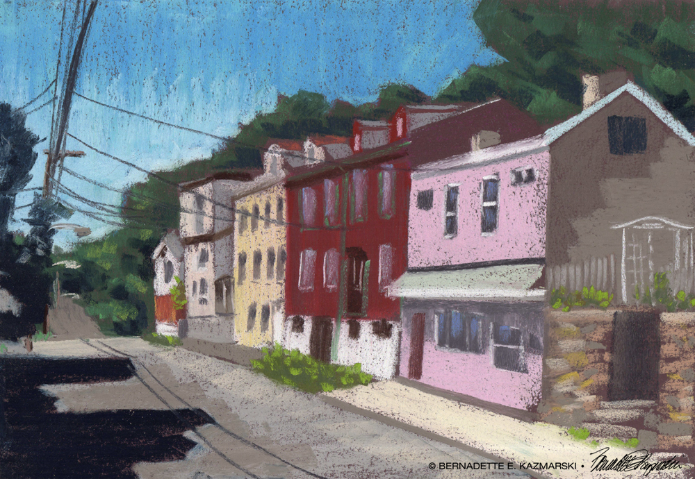 #30paintingsin30days, Day 22: Facades, North Side Pittsburgh