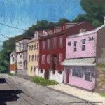 Facades, North Side Pittsburgh, 10.5 x 15, pastel © Bernadette E. Kazmarski
