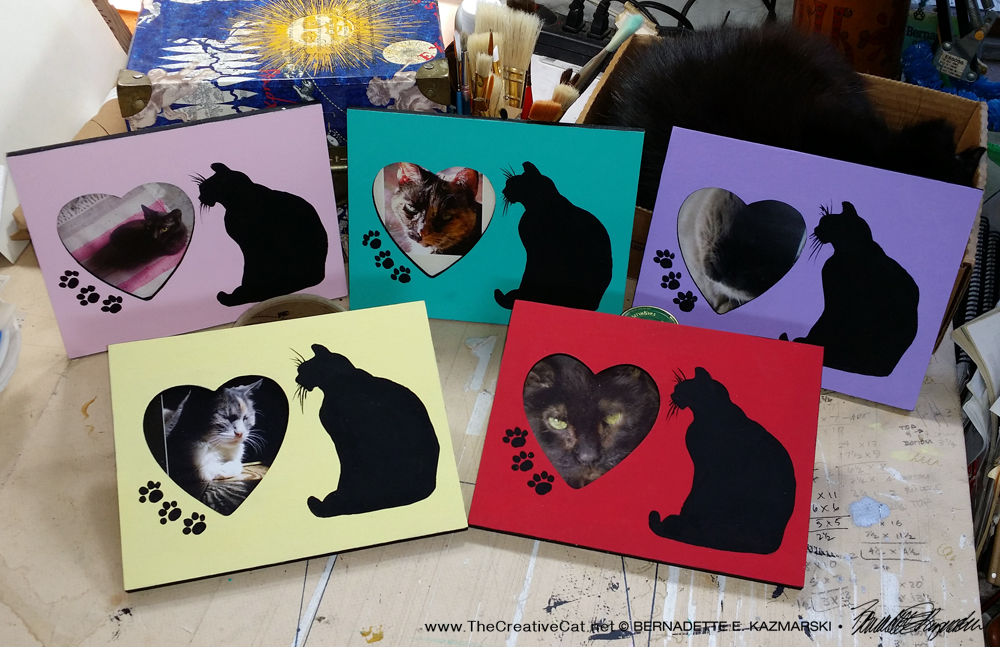Kitty Love picture frames.