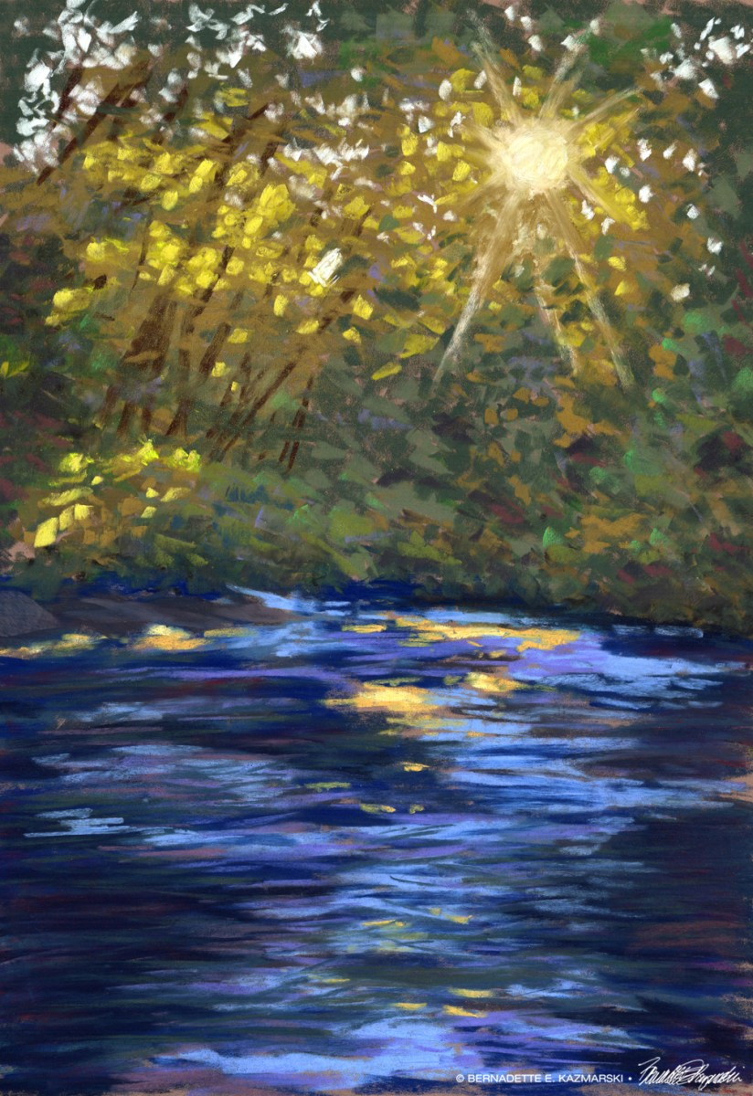 #30paintingsin30days, Day 21: Summer Sunset, Robinson Run