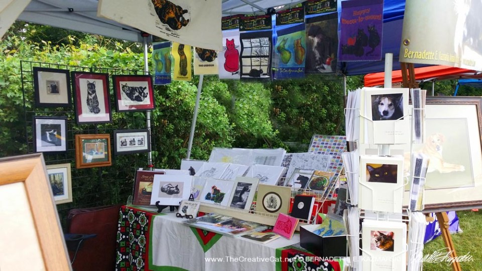 Display of art, cards and gifts.