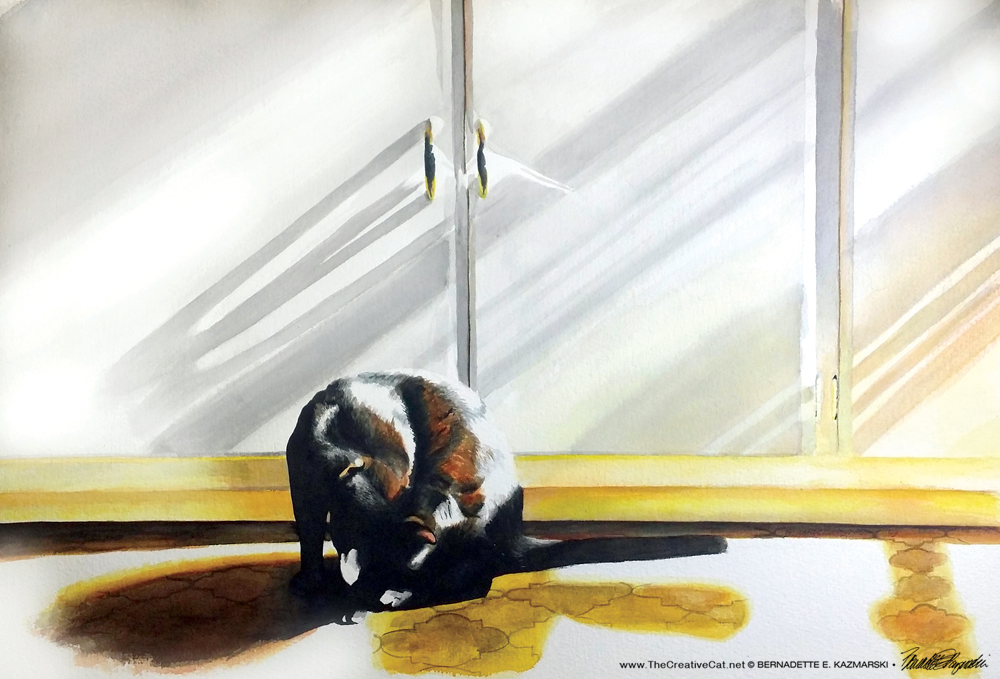 Sunbath, 21 x 14, watercolor, 1993, © Bernadette E. Kazmarski