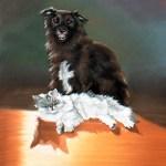 Rocky and Bullwinkle, 12 x 18, pastel © Bernadette E. Kazmarski