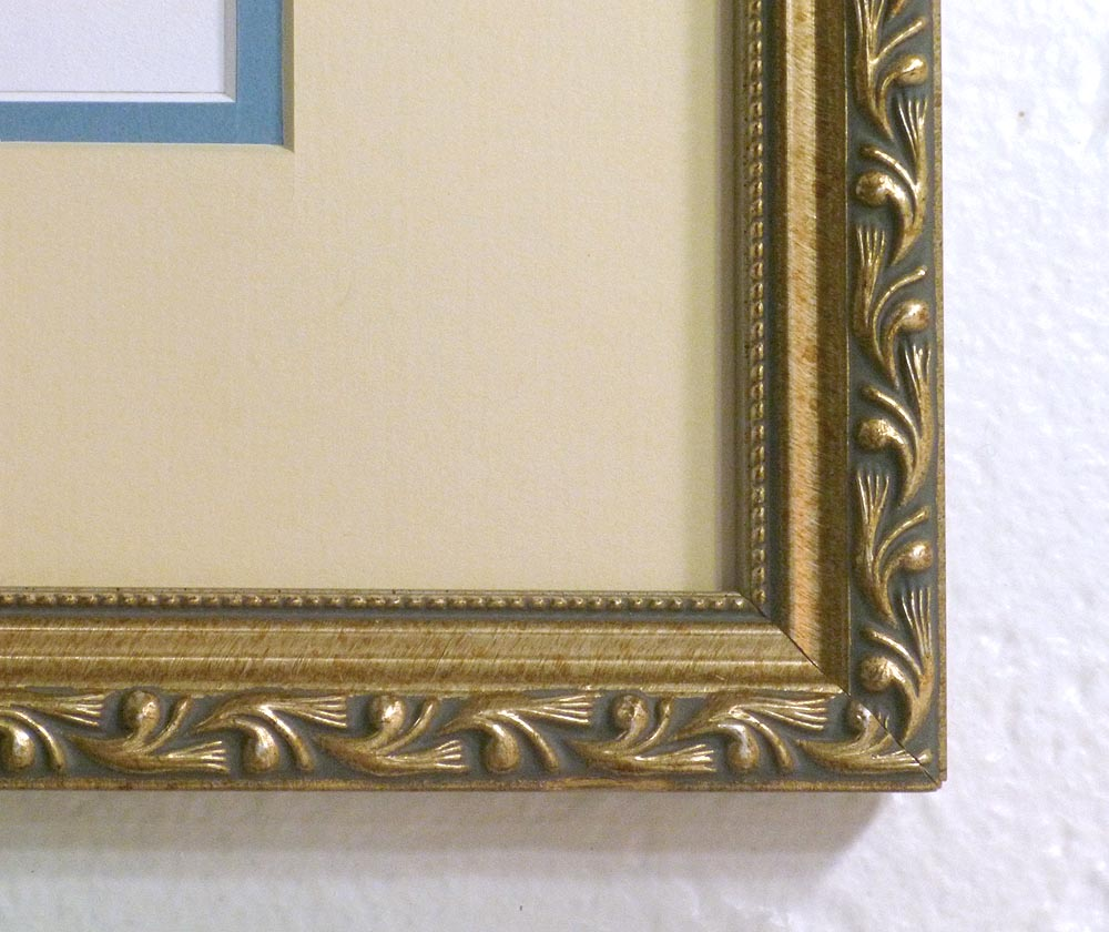 Detail of frame and mat.
