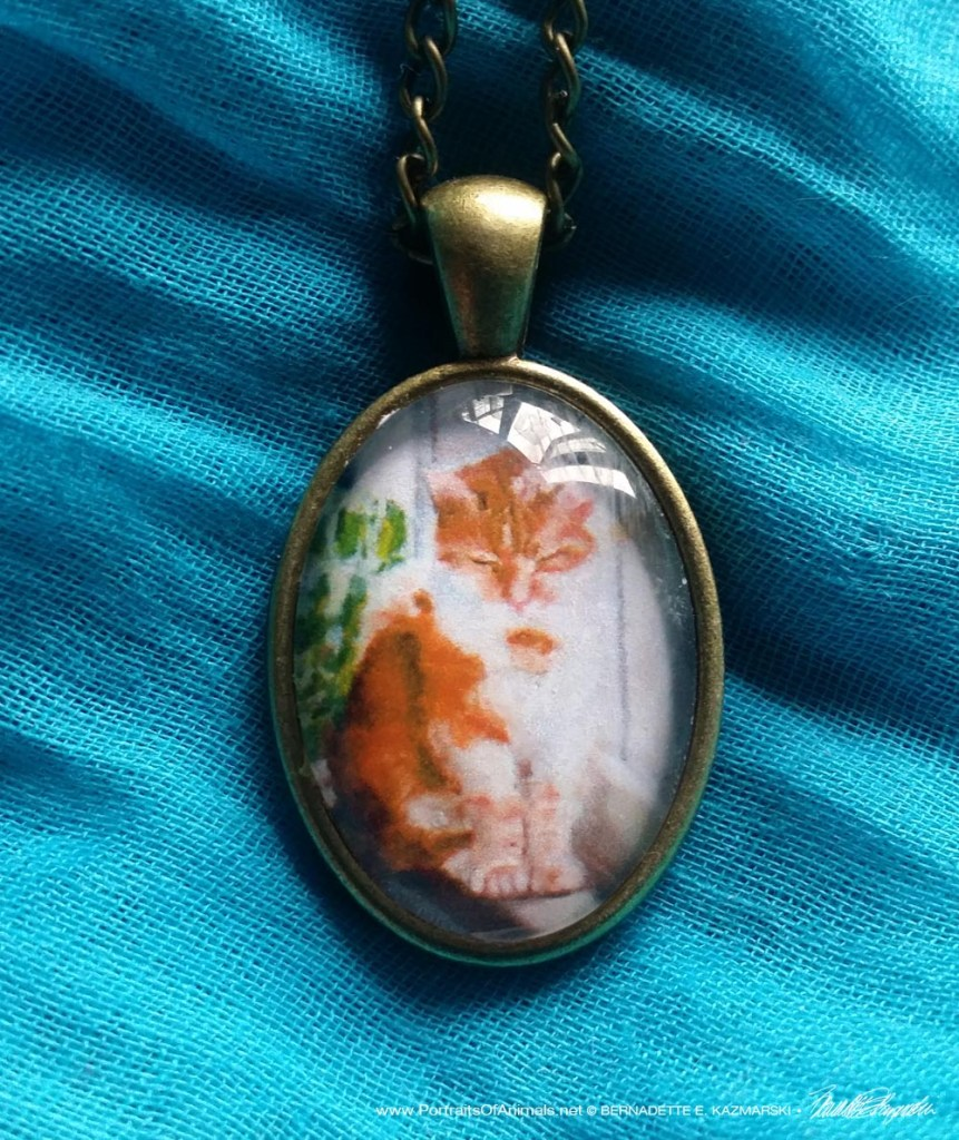 Cabochon Pendant, Winter Afternoon Nap