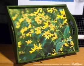 Woodland Sunflowers tray