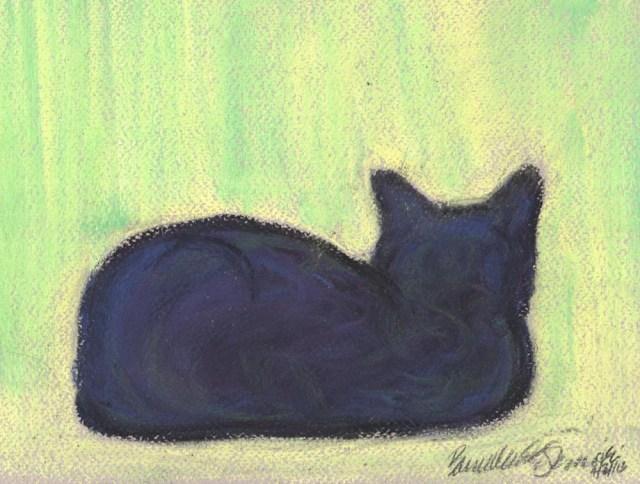 """Spring Window"", pastel on Pastello paper, 8.25″ x 11″ © Bernadette E. Kazmarski"