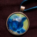 Cabochon Pendant, In Window Light