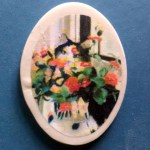 """The Perfect Camouflage 1.5"""" Oval Magnet"""