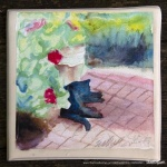 Garden Sketch With Mimi tile.