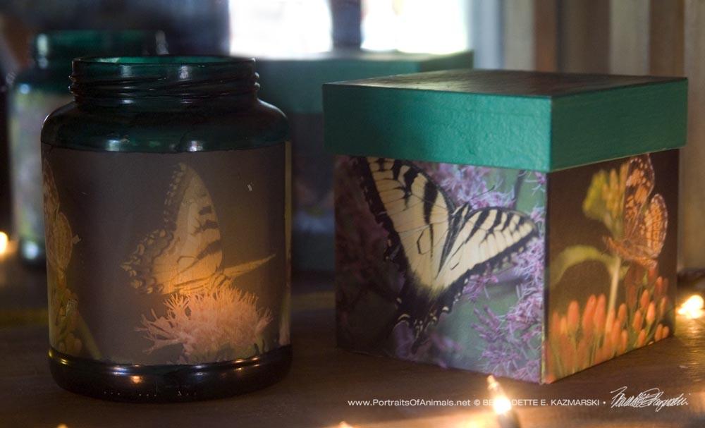 Butterflies votive and keepsake
