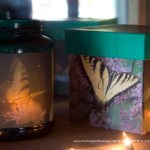 Butterflies votive and keepsake