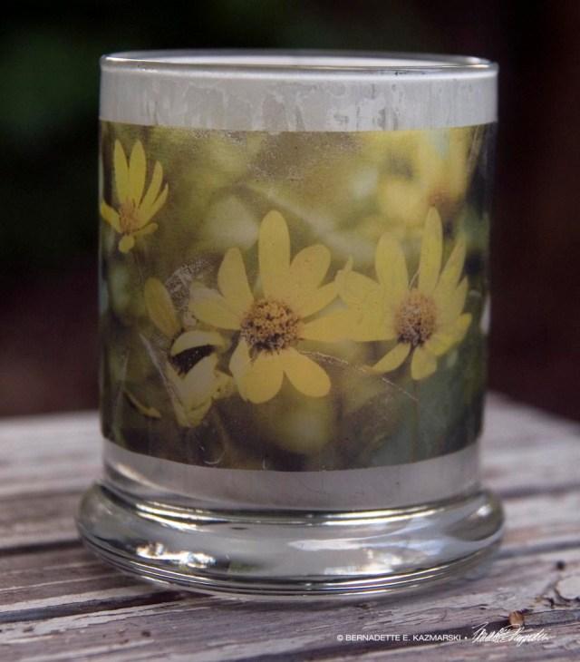 Dancing Woodland Sunflowers votive, small