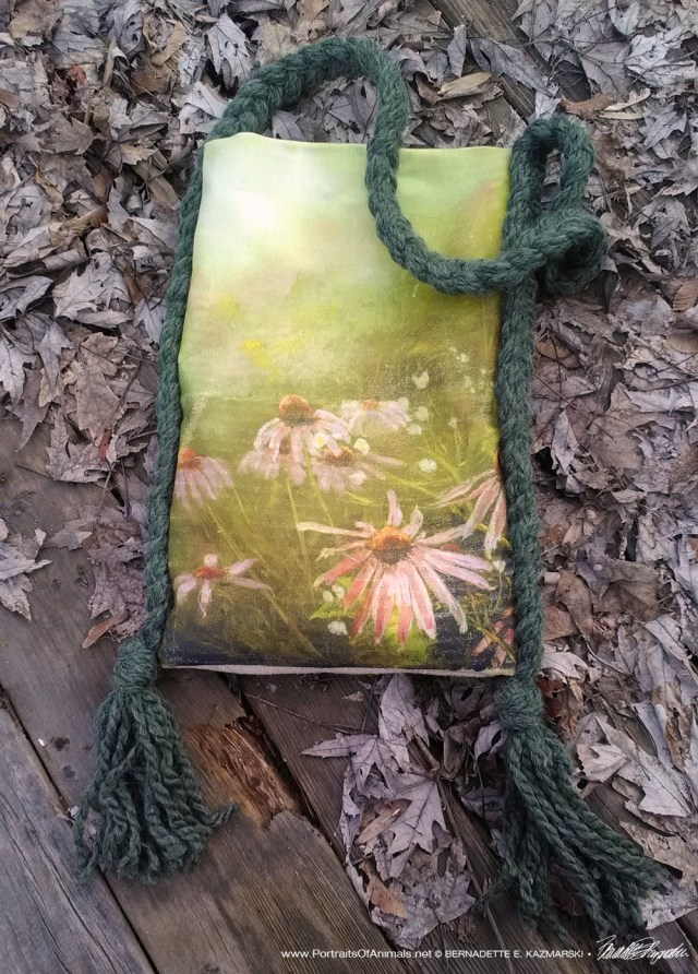 handmade purse or tote bag with my art and design