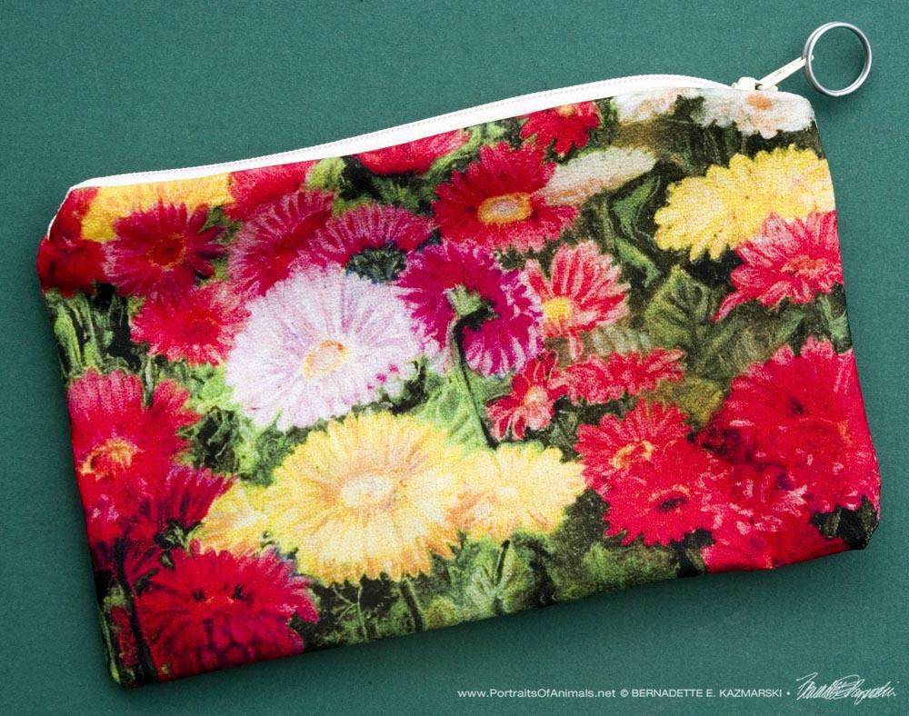 Greenhouse Gerberas small accessory bag.