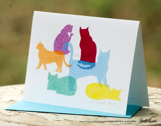 Colorful Kitties note cards.