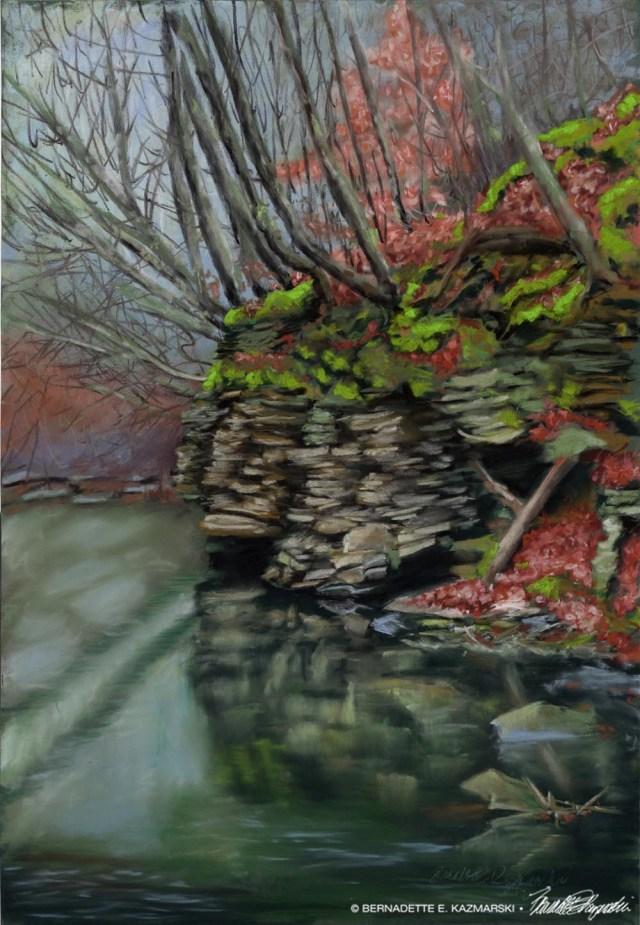 Emerging Spring, pastel on pastelmat, 13.5 x 19.5, 2021 © Bernadette E. Kazmarski