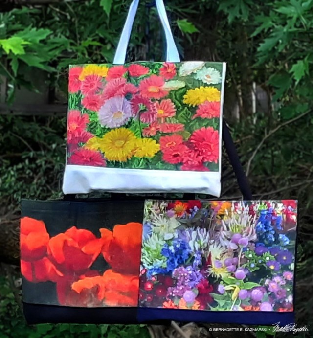 tote bags with flower designs