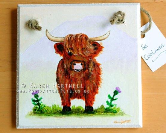 Highland Cow Plaque