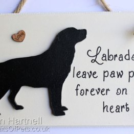 Black Labrador Plaque