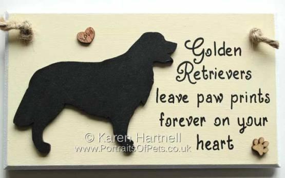 Golden Retriever Plaque