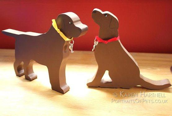 Wooden Labradors