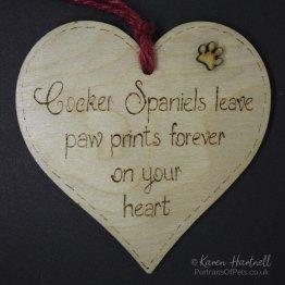 Cocker Spaniels heart plaque