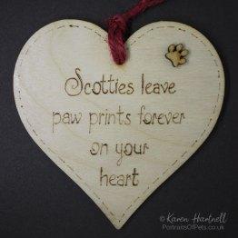 Scotties heart plaque